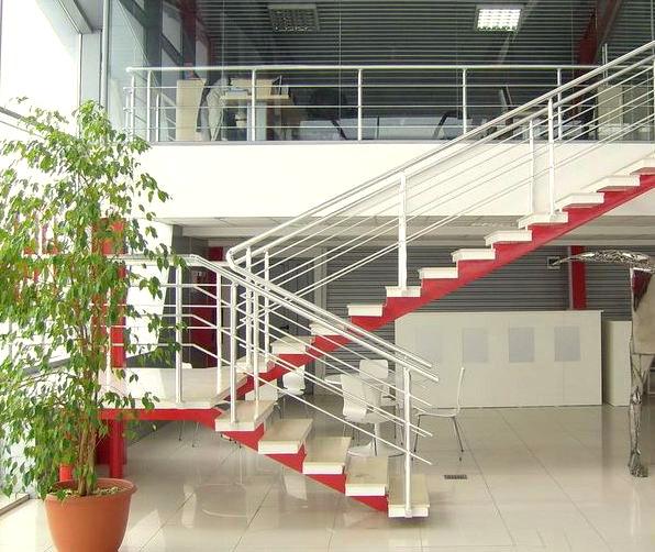 Лестничные ограждения в дизайне интерьера офисов