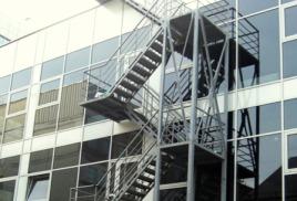 Ограждение пожарных лестниц. Пожарные лестницы